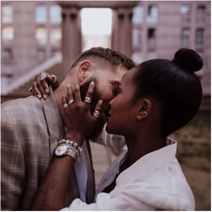 ✨Urban Love✨  Coming soon 💕 Une équipe sublime de folie à découvrir très bientôt ✨ Photographe : @likabanshoya Wedding designer : @lushandloved Papeterie : Collaboration @_laurapjl & @loriane.pallatier Imprimeur : @spind_print Créations textiles : @letempsfile Fleuriste : @une_maison_dans_les_arbres Créatrice de la combinaison de mariée & veste : @camillemarguetcreatrice Muah : @amarylis_greenbeauty Couple : @thenilookatyou  #shooting #shootingphoto #urban #urbanlove #couple #love #hair #make#mua #muah #wedding #weddingdress #loveisintheair #zaomakeup #zao #bio #photographer #photography #photo #creatricederobesdemariee